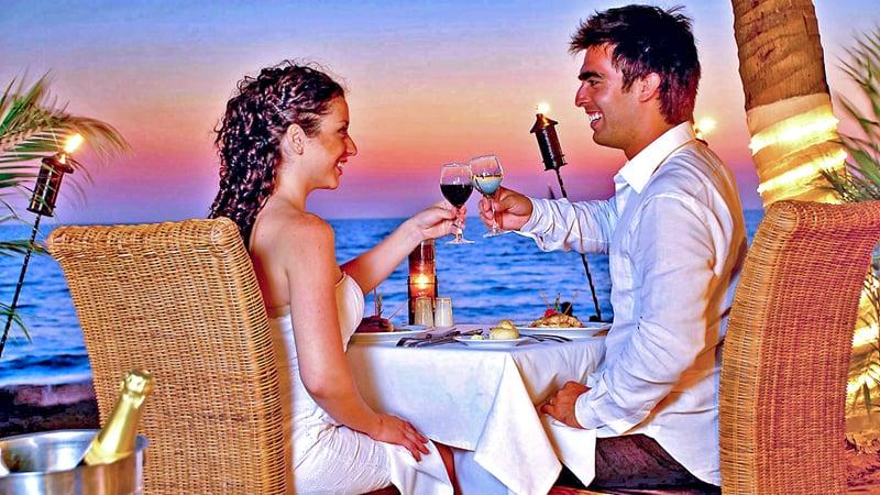 Verlobungsfeier am Meer